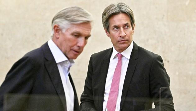 Angeklagter Walter Meischberger, Angeklagter Karl-Heinz Grasse (Bild: APA/Hans Punz)
