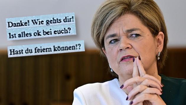 In der Mitteilung der Wirtschafts- und Korruptionsstaatsanwaltschaft werden SMS zwischen Glatz-Kremsner und ÖBAG-Chef Thomas Schmid zitiert. (Bild: APA/HANS PUNZ, zVG, Krone KREATIV)