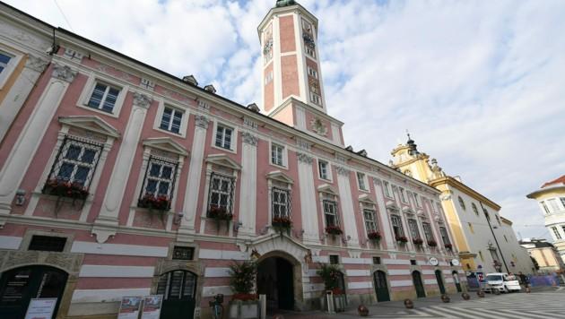 Das Rathaus in St. Pölten (Bild: APA/HELMUT FOHRINGER)