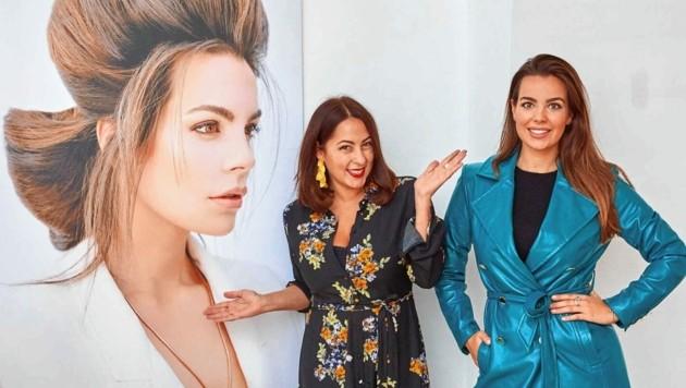 Diese Zusammenarbeit passt: Pia Bundy mit Topmodel und Bundy-&-Bundy-Testimonial Nadine Mirada. (Bild: Starpix/ Alexander TUMA)