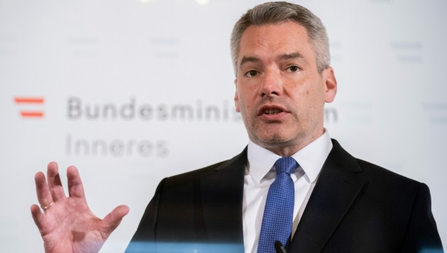 Innenminister Karl Nehammer (ÖVP) (Bild: APA/GEORG HOCHMUTH)