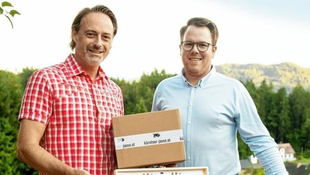 Manfred und Thomas Plautz bieten viele Qualitätsjausen (Bild: NZ Photo / Zangerle)