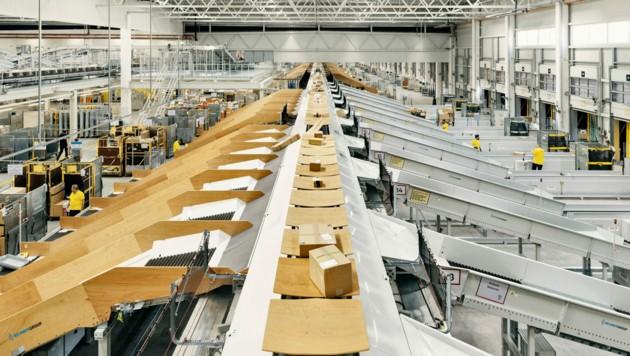 Das Logistikzentrum in Allhaming wird ab dem Frühjahr 2021 ausgebaut. (Bild: Post AG)