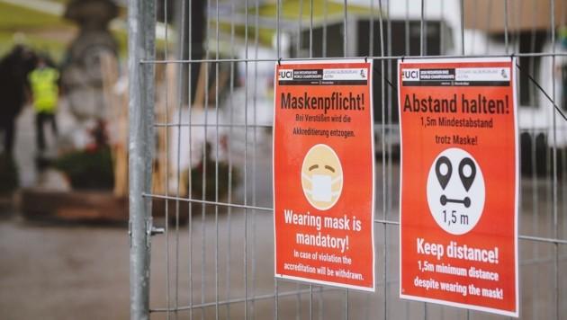 Maskenpflicht bei der Mountainbike-WM in Leogang (Bild: EXPA/ JFK)