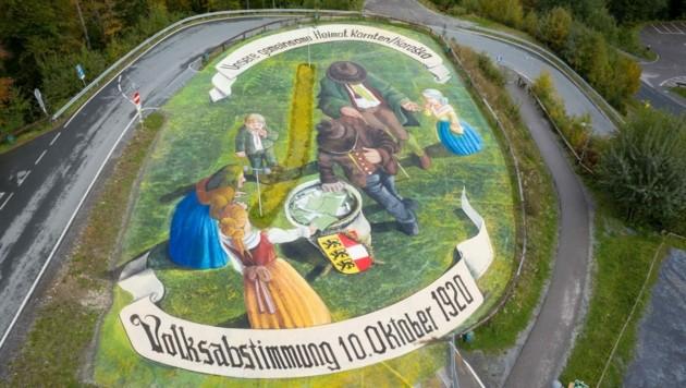 """""""Unsere gemeinsame Heimat Kärnten/Koroška - Volksabstimmung 10. Oktober 1920"""" (Bild: Vera Polaschegg )"""