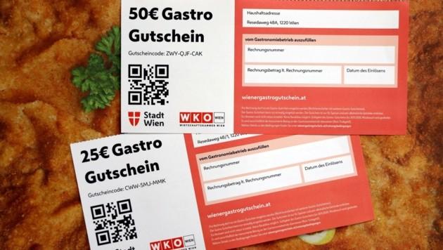Eine schwere Zeit für die Gastronomie. Geholfen hat da der Gastro-Gutschein - den Wirten und den Wienern. (Bild: Karl Schöndorfer)