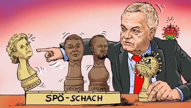 Wen setzt Parteichef Anton Lang schachmatt? (Bild: Zettler Alfred)