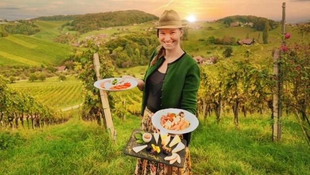 Tamara Kögl freut sich über eine gute Auslastung in ihrem Buschenschank. (Bild: Sepp Pail)