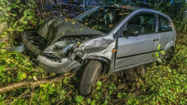 Auto-Unfall im Suff (Bild: Einsatzdoku.at)