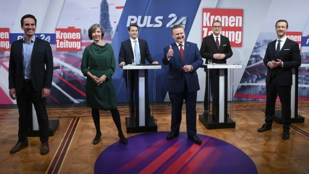 Die Spitzenkandidaten bei der Wahl 2020 (Bild: APA/Helmut Fohringer)