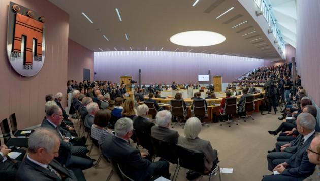 Der Vorarlberger Landtag (Bild: APA/DIETMAR STIPLOVSEK)