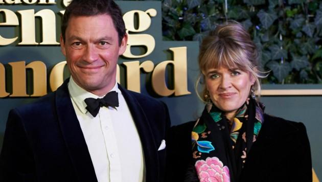 Dominic West und seine Ehefrau Catherine Fitzgerald (Bild: AFP)