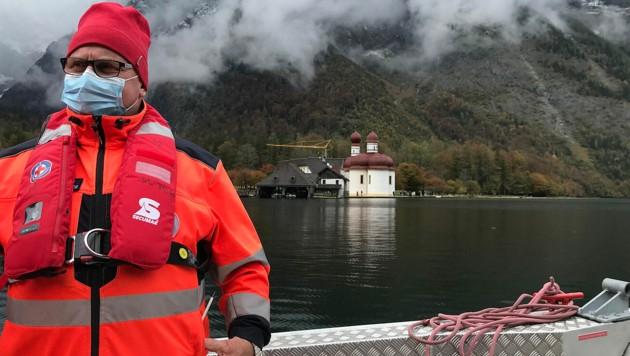 Sucheinsatz per Boot am Königssee (Bild: Bayrisches Rotes Kreuz)