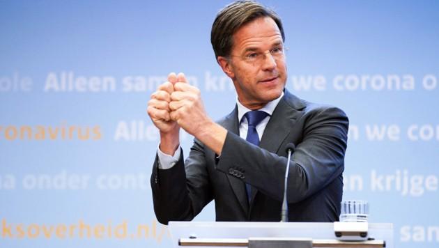 Der niederländische Ministerpräsident Mark Rutte steht vor seiner vierten Amtszeit. (Bild: APA/AFP/ANP/Bart Maat)