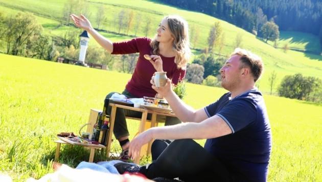 Picknicken mit dem schönsten Blick auf das Gurktal. (Bild: Evelyn HronekKamerawerk)