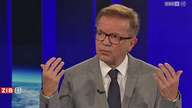 """Gesundheitsminister Rudolf Anschober (Grüne) in der """"ZiB 2"""" am Donnerstag (Bild: Screenshot/ORF)"""