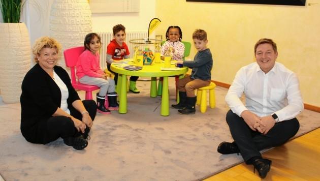 Die Stadt Villach baut die Betreuung im elementarpädagogischen Bereich kräftig aus. Bis Jänner 2021 werden insgesamt 100 neue Plätze für bis Kinder bis drei Jahre geschaffen. (Bild: Stadt Villach - Kompan)