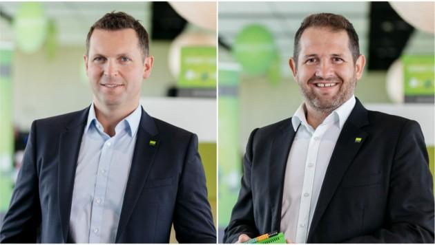 Thomas Moser und Martin Öller (l.) gründeten vor elf Jahren Loxone. (Bild: Loxone/Stöbich)