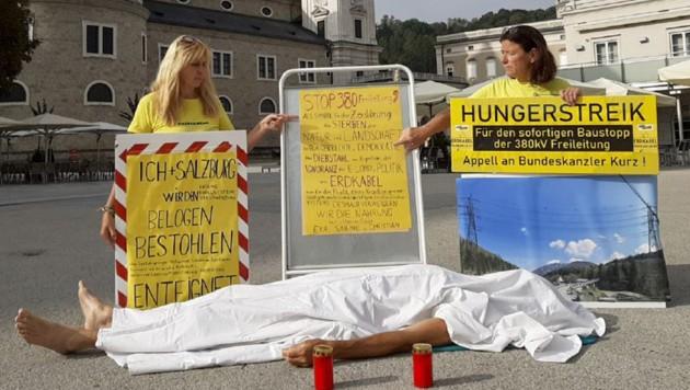 Die Freileitungsgegner haben ihren Hungerstreik beendet. (Bild: Markus Tschepp)