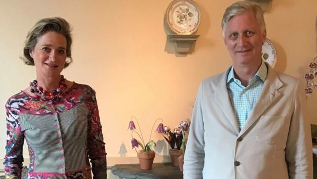 König Philippe von Belgien traf zum ersten Mal seine Halbschwester Delphine Boel. (Bild: AFP)