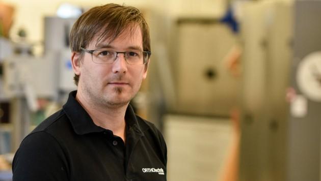 Andreas Falkensammer (40) führt den Betrieb. (Bild: Markus Wenzel)