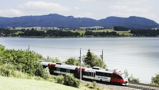 Der Bereich rund um den Flachgauer Wallersee wird zum Bau-Hotspot der Bundesbahnen (Bild: ÖBB/Philipp Horak)
