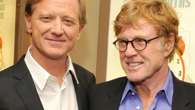James Redford mit seinem Vater, Oscarpreisträger Robert Redford (Bild: 2012 Getty Images)