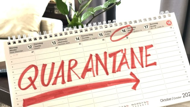 Die Zahl der Fälle in Quarantäne und Isolation steigt stark an. Insgesamt 14.036 Bürger sind derzeit in Isolation oder sogar im Krankenhaus. (Bild: Hronek Eveline)