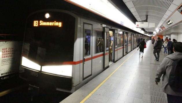 U3-Station-Simmering: Die Garnituren werden hier noch länger ihre Endhaltestelle haben. (Bild: Martin Jöchl)