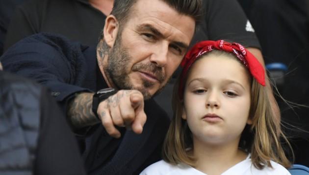 David Beckham mit Tochter Harper (Bild: AFP)