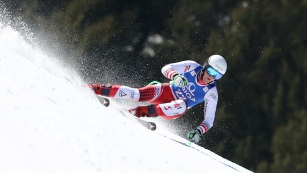 Im März raste Stefan Rieser zu Junioren-WM-Gold im Super G. (Bild: GEPA pictures/ Andreas Pranter)