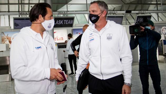 Christian Heidenreich (links) mit Cheftrainer Dominik Thalhammer (Bild: GEPA)