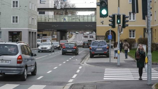 Rudolf-Biebl-Straße in Salzburg (Bild: Tschepp Markus)