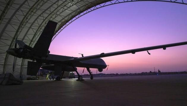 Eine unbemannte MQ-9 Reaper der US-Luftstreitkräfte (Bild: APA/AFP/US AIR FORCE/Michael MASON)