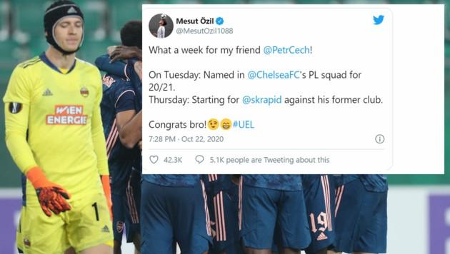 (Bild: GEPA pictures, Twitter.com/Mesut Özil)