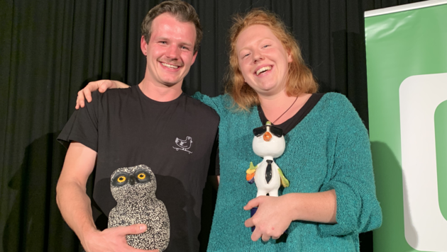 Die Vögel landen beim Duo Ananas alias Lisa Alexandra Holzner und Michael Diekers. (Bild: Christoph Hartner)