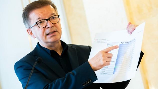 Gesundheitsminister Rudolf Anschober (Grüne) hält nichts von Kontrollen im Privatbereich. (Bild: APA/GEORG HOCHMUTH)