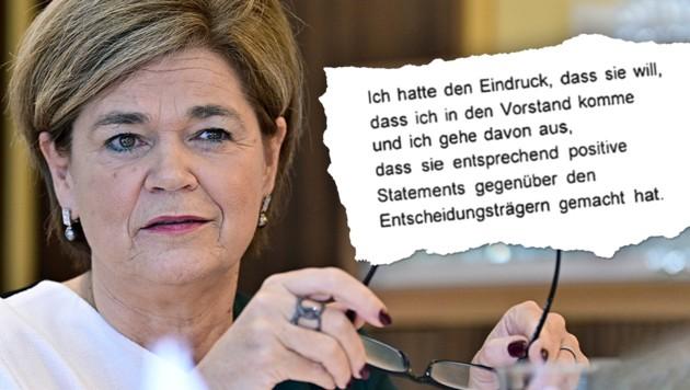 Auch Generaldirektorin Bettina Glatz-Kremsner wird in der Causa Casinos seit Kurzem als Beschuldigte geführt. (Bild: APA, ZvG, Krone KREATIV)