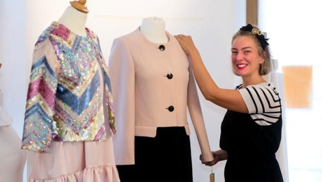 """Die Musterkollektionen und Ready-to-Wear von """"Maiken K"""" findet man im Atelier in Hohenems (Bild: Mathis Fotografie)"""