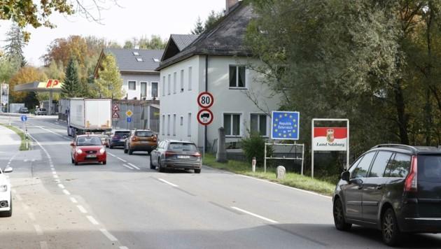 Der Grenzübergang am Walserberg beim Kleinen Deutschen Eck (Bild: Tschepp Markus)