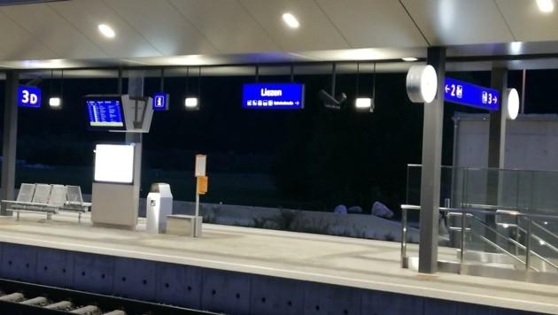 Der Tatort: der Bahnhof in Liezen (Bild: Reinhard Schwaiger)
