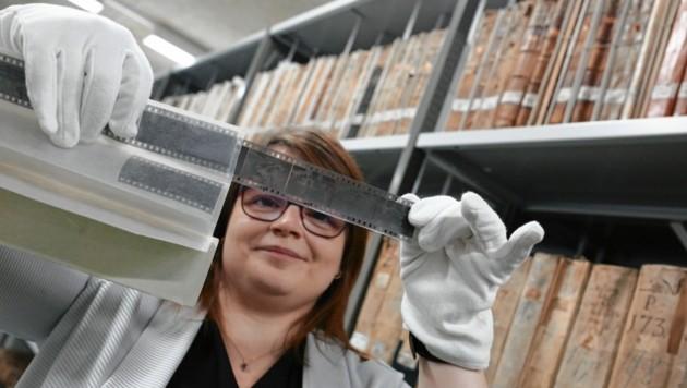 Historikerin Katja Almberger vom Kärntner Landesarchiv. (Bild: Evelyn HronekKamerawerk)