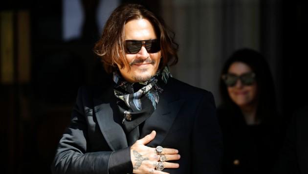 Johnny Depp im Juli 2020 auf dem Weg ins Gericht. (Bild: AFP)