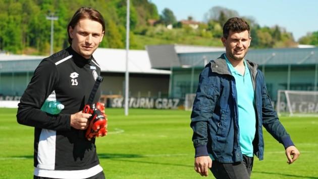 Sportchef Andreas Schicker (r.) erwartet von Sturm im Cup den Aufstieg. (Bild: Sepp Pail)