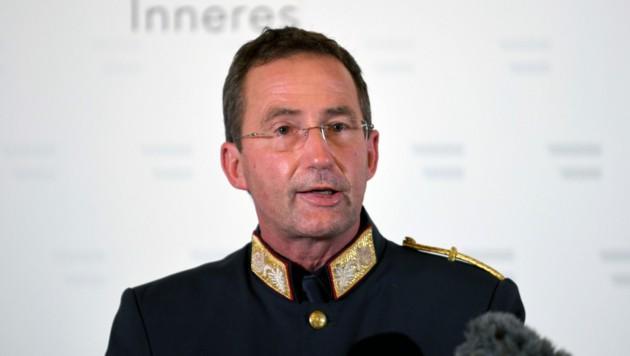 Wiens Polizeipräsident Gerhard Pürstl (Bild: APA/ROLAND SCHLAGER)