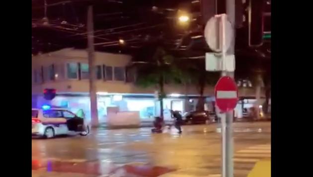 Das Video ist mehrere Tage alt und hat nichts mit den tragischen Vorfällen in Wien zu tun (Bild: Screenshot/zVg)