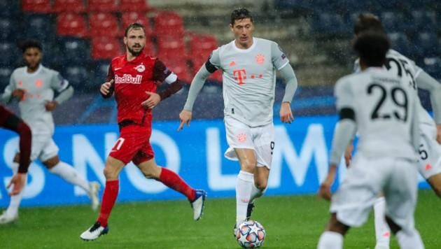 Gegen Bayern München (im Bild Robert Lewandowski) kassierten die Bullen sechs Gegentore.