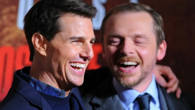 Tom Cruise und Simon Pegg (Bild: www.pps.at)