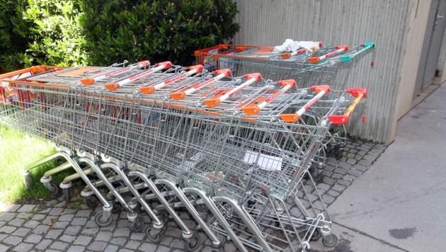 Der Streit um einen Einkaufswagen in Hollabrunn ist wohl ein erstes Zeichen für die aufgeheizte Stimmung im Land. (Bild: ANDI SCHIEL)