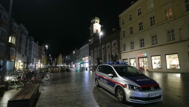 Gespenstische Ruhe in der Innsbrucker Maria-Theresien-Straße. (Bild: Birbaumer Christof)